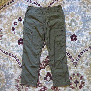 Eddie Bauer Nylon Forest Green Pants Lightweight